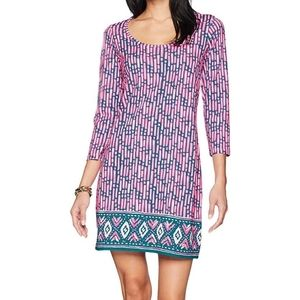NEW Lilly Pulitzer  Size XL Beacon Dress Pink Blue